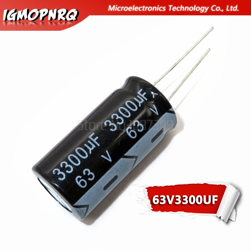 5pcs electrolytic capacitor 63V3300UF volume 3300UF 63V 18*35MM