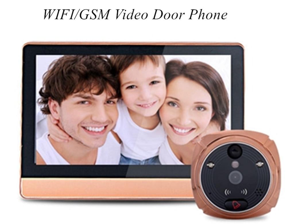 7 Inch WIFI/GSM Peephole Viewer Intercom Video Door Phone