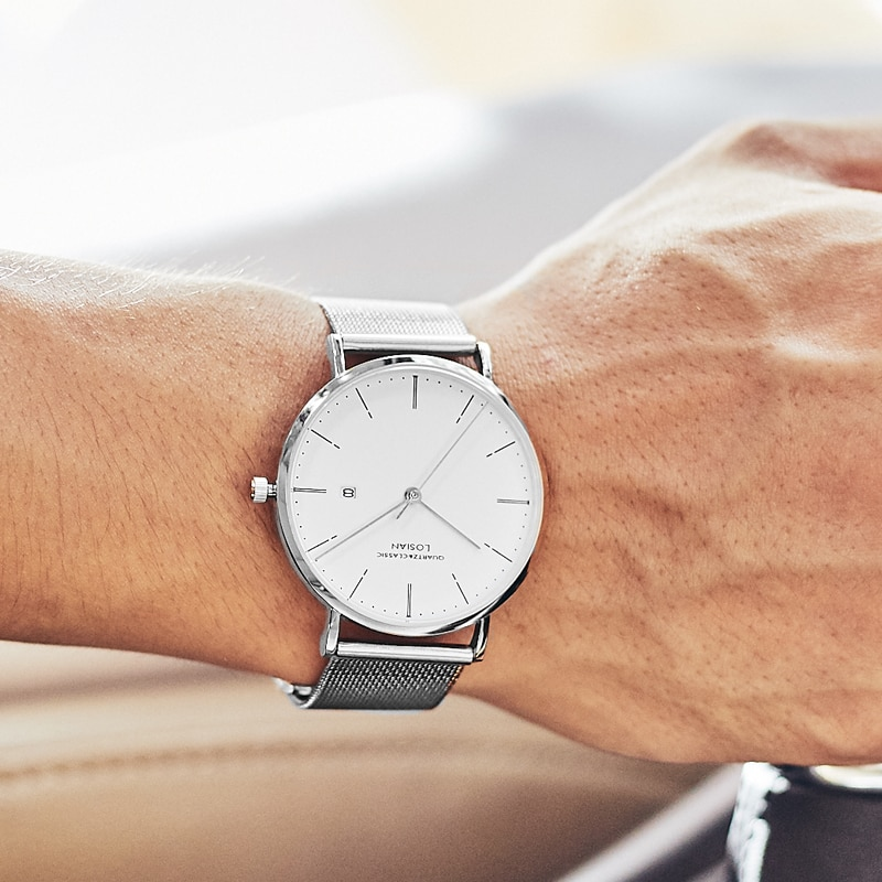 Relojes Para Hombre de marca superior de lujo casual impermeable de acero inoxidable hodinky hombres erkek kol saati relojes sin caja