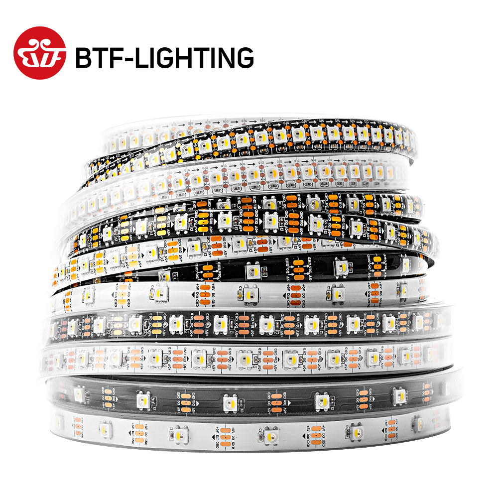 SK6812 RGBW Led Strip Light 4 in 1 Similar WS2812B 1m 4m 5m 30 60 144 LEDs Individual Addressable RG