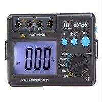 New LCD Backlight Insulation Tester Professional HD HDT20B Insulation Resistance Tester Meter Megohmmeter Voltmeter 2500V