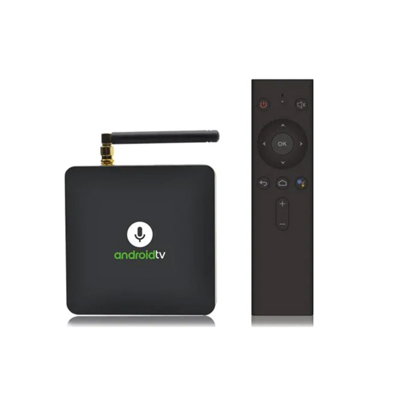MECOOL KM8 Dispositivo de TV inteligente S905X 2GB RAM 16GB ROM certificado por Google Android 8,0 Set-top Box Mini PC con Control de voz