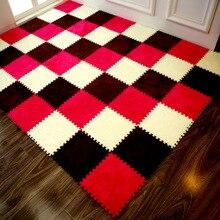 Tapis de sol en mousse EVA 30x30cm   Tapis de porte dépissure en daim, tapis Puzzle pour bébé, tapis rampant, pour salon et chambre à coucher