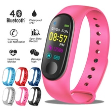LUIK 2019 Nieuwe Smart Sport Horloge Vrouwen hartslag bloeddrukmeter Smart armband fitness tracker Stappenteller PK M3 band + Box