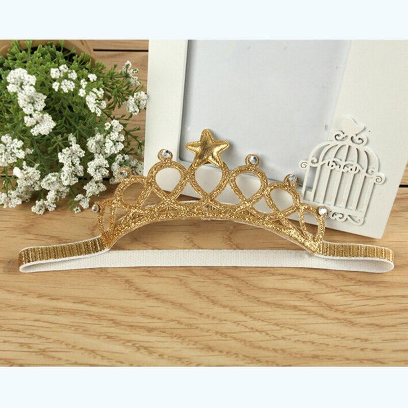 1PC nueva tiara de princesa litterin rown diadema para niñas banda de pelo nuevo Wrape bebé accesorios para el pelo