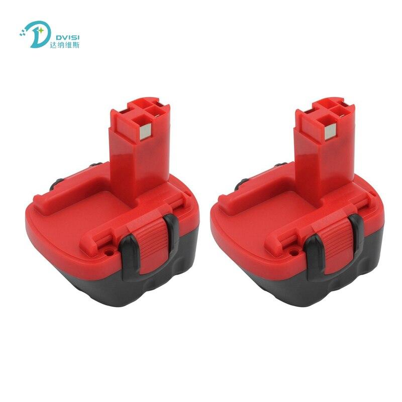 2 pcs 12 v 1.5Ah NI-CD Bateria Para Bosch GSR GLI AHS GSB GSR PSR BAT043 BAT045 BAT046 BAT049 BAT120 BAT139 Bateria Furadeira Elétrica