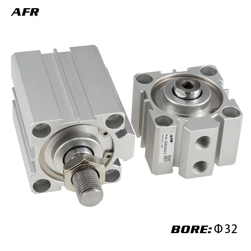Фото - Female/male thread bore 32mm stroke SDA32X5/10/20/25/30/40/50/60/75/100mm air actuator compact double acting pneumatic cylinder air cylinder sda series male thread pneumatic compact airtac type 16 20 25 32 40 50 63mm bore to 5 10 15 20 25 30 35 40 45 50mm