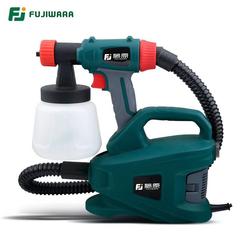 FUJIWARA 800W Electric Spray Gun Disinfection WaterLatex Paint Sprayer Paint Spray Gun Paint Painting Tools Nozzle Caliber 2.5mm
