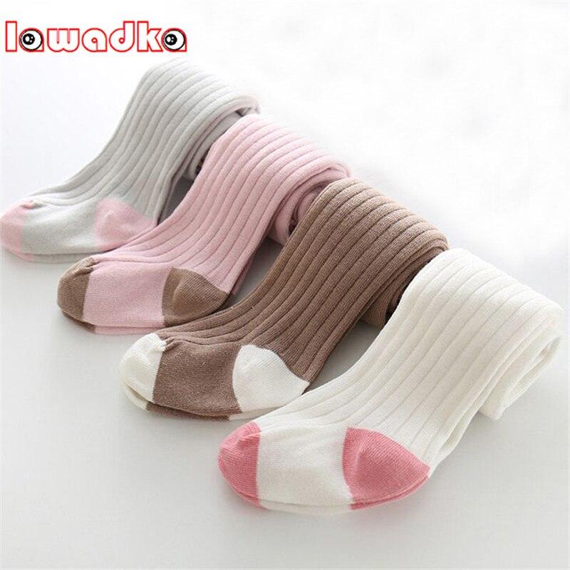 Lawadka-collants pour bébés filles   Collants chauds et doux en coton pour bébés filles, jambières solides pour nourrissons