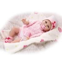 22 55cm lifelike reborn doll silicone simulation reborn newborn baby doll girl hight quality