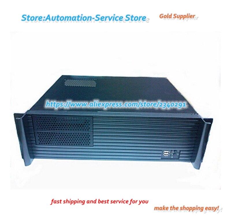 3U380 profundo y ultracorto gabinete de Control Industrial Servidor de aluminio caja de Panel de disco duro Bits PC Power Drive CD-ROM