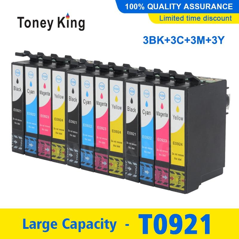 12 Pcs Cartucho de Tinta Para Impressora Epson Cartuchos de Tinta Stylus T26 T0921 92 92N Completo T27 TX106 TX109 TX117 TX119 c51 C91 CX4300