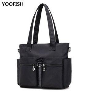 Fashion Women Nylon Handbag Ladies Casual Personality Shoulder Bags Fashion Simple Messenger Bag Travel Nylon Bag free shipping.