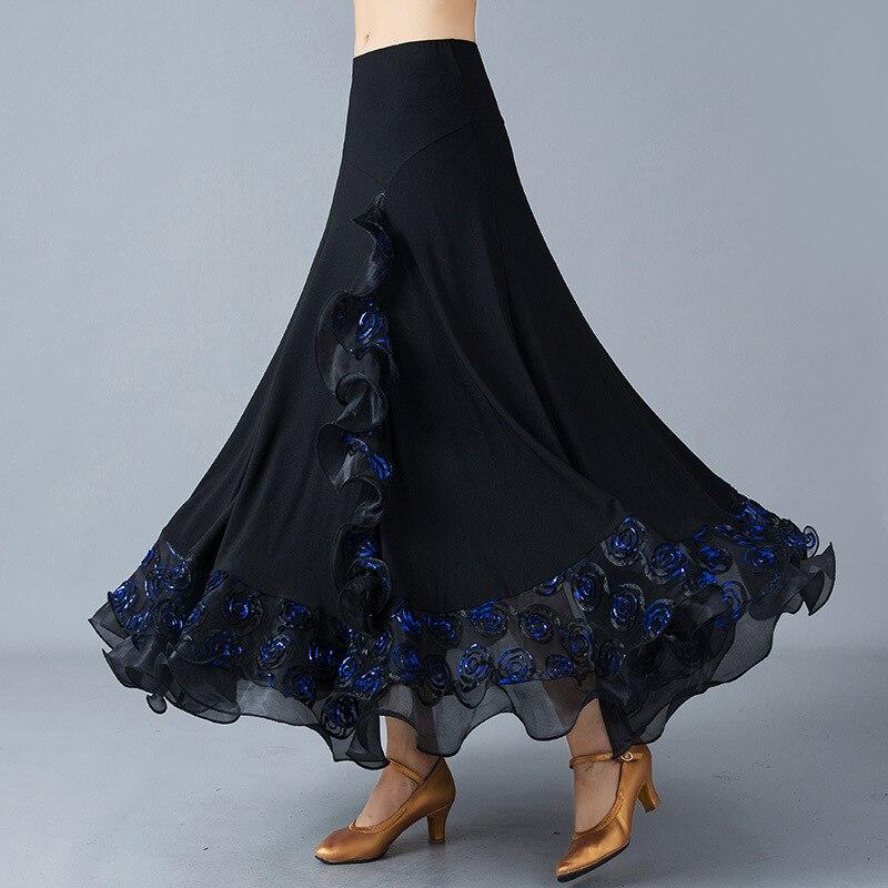 Falda de baile latino para mujer, a la venta, rojo, naranja, leopardo, Cha/Rumba/Samba/Tango, vestidos para practicar baile, Performamnce, ropa de baile