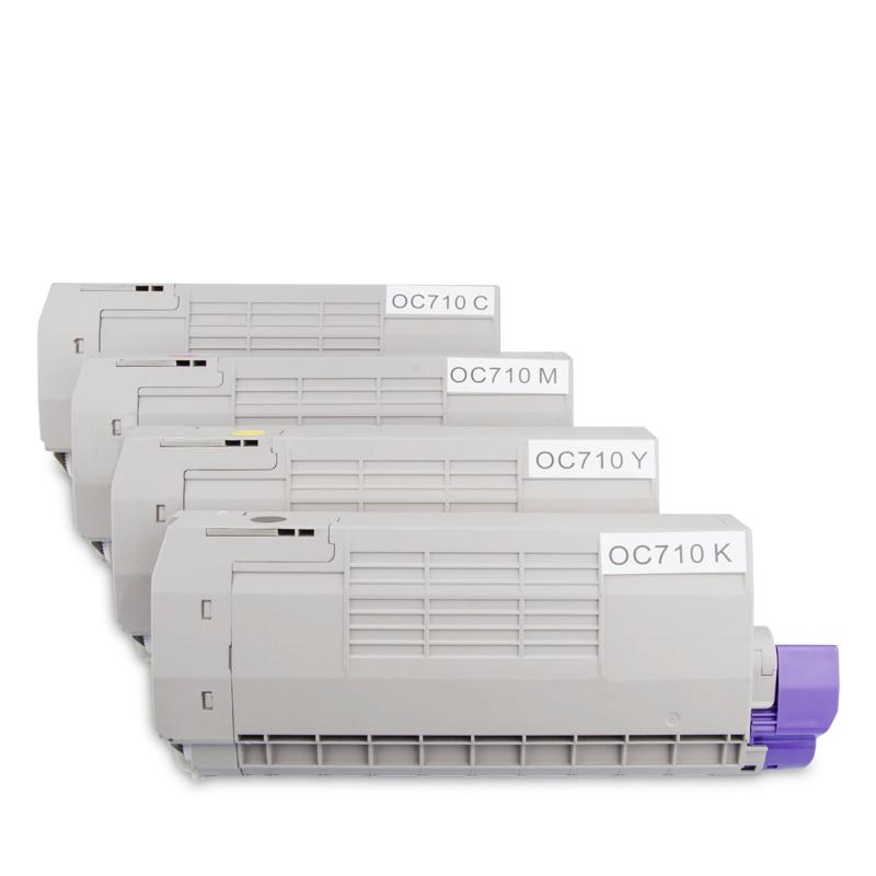 JIANYINGCHEN compatible cartucho de tóner de color para OKIs C610 C710 C711 impresora copiadora láser (4 unids/lote)