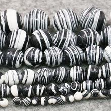 4mm 6mm 8mm 10mm 12mm 14mm turquie pierre bijoux rayure bricolage perles en vrac accessoires pièces 15 pouces chanceux pierre filles cadeaux