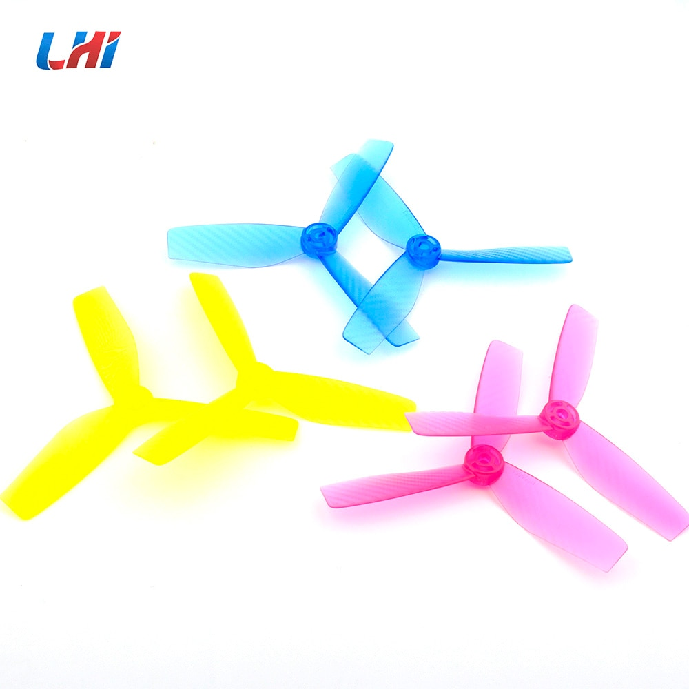 walkera tali h500 plastic propellers for r c hexacopter white 2 pcs RC part for T5045 propellers 3-Blade Plastic Propellers CCW CW for Quadcopter QAV250 X210 220mm of drone yellow&blue&pink