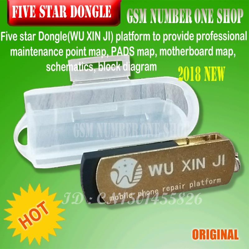Five star Dongle /wuxinji / WU XIN JI dongle board schematic diagram Repairing for iPhone iPad samsung phone software repairing