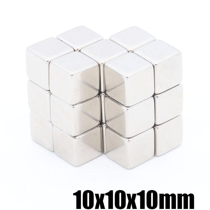 50 шт. 10x10x10 мм NdFeB постоянные магниты супер редкоземельный магнит квадратный магнит 10X10X10MM Сильный магнитный куб