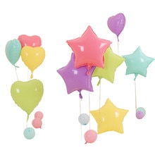 5 sztuk 18 cal gwiazda serce Macaron balony pastelowe lateksowe balony na ślub dekoracja urodzinowa Multicolor dostaw