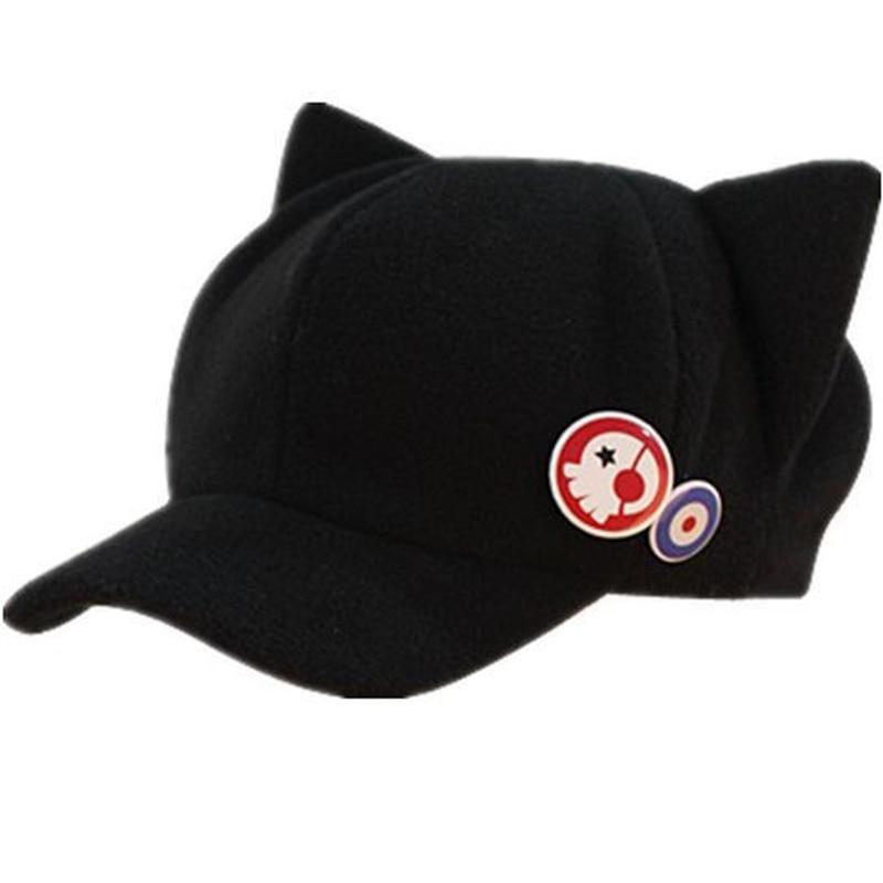 Hot sale EVA caps asuka hat Q version of winter hats cartoon cat new theatre fashion hat with 2 badges