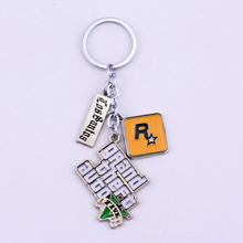 PS4 GTA 5 jeu porte-clés offre spéciale! Grand vol Auto 5 porte-clés pour Fans Xbox PC Rockstar clé porte-anneau 4.5 cm bijoux Llaveros