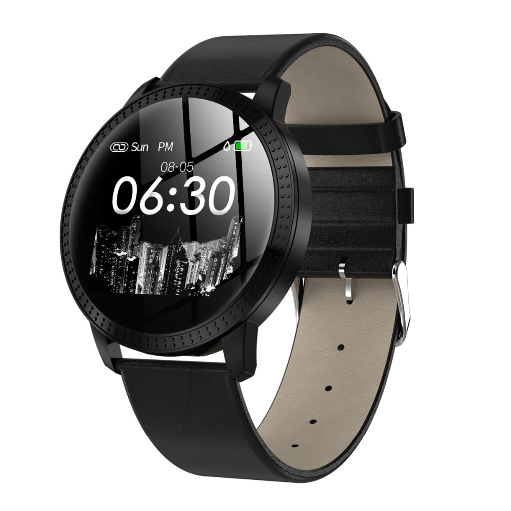Reloj inteligente CF18 a la moda, reloj con pantalla redonda, impermeable, para hombre, rastreador de actividad física, reloj inteligente Bluetooth para mujer PK Q8 V11