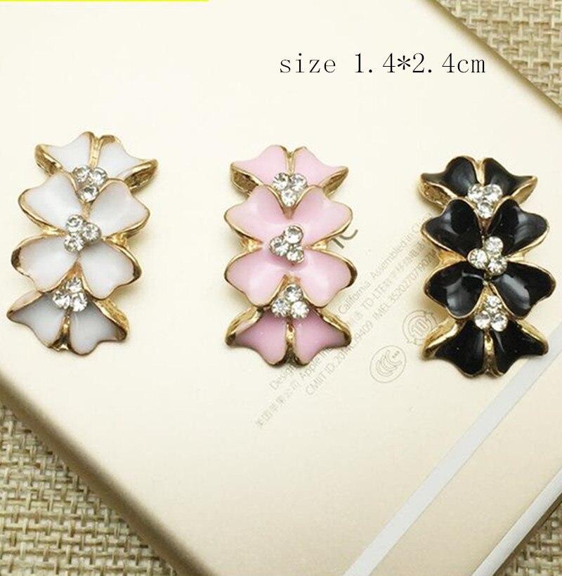 3 colores elegantes de diamantes de imitación metálicos adornados DIY accesorios para el cabello broche material joyería de moda accesorios 12 unids/lote MYQB024