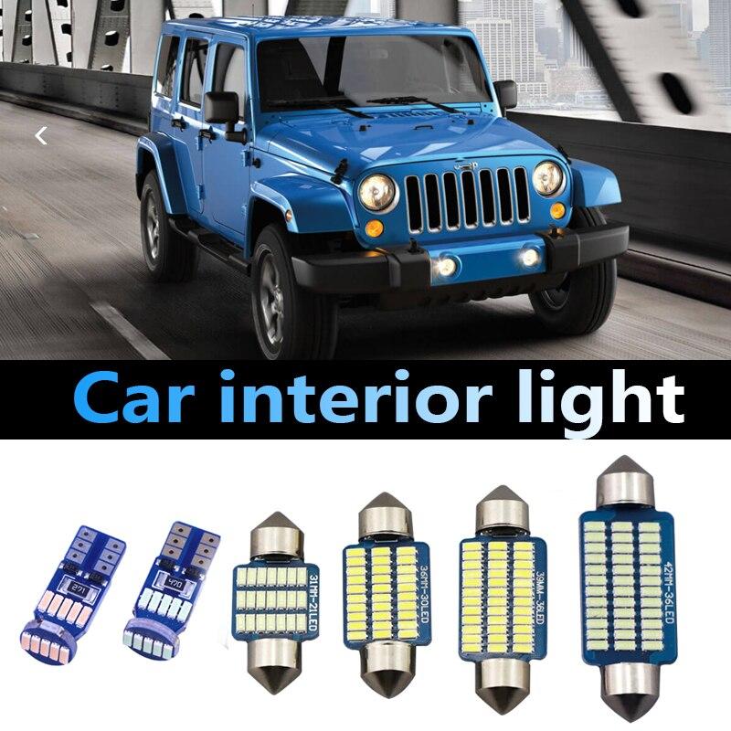 Jk luz de led para interior de carro, luz de leitura para caminhão, cab, acessórios de modificação, 2008-2017