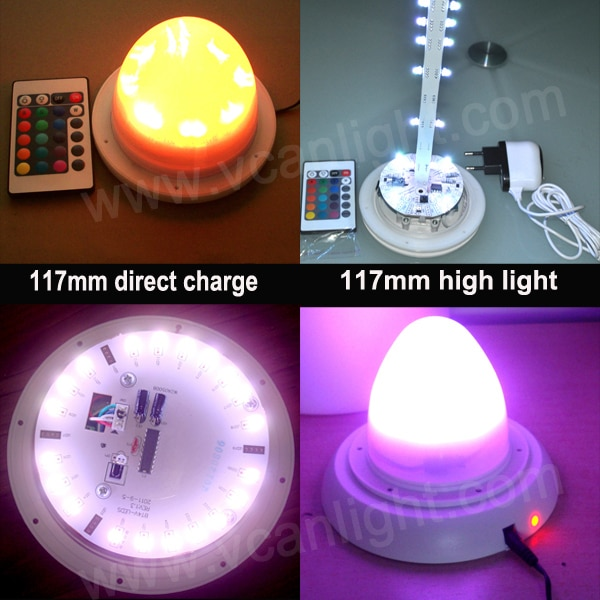 5 PCS fábrica recarregável RGB lâmpada Led Kit para Led móveis Led planter