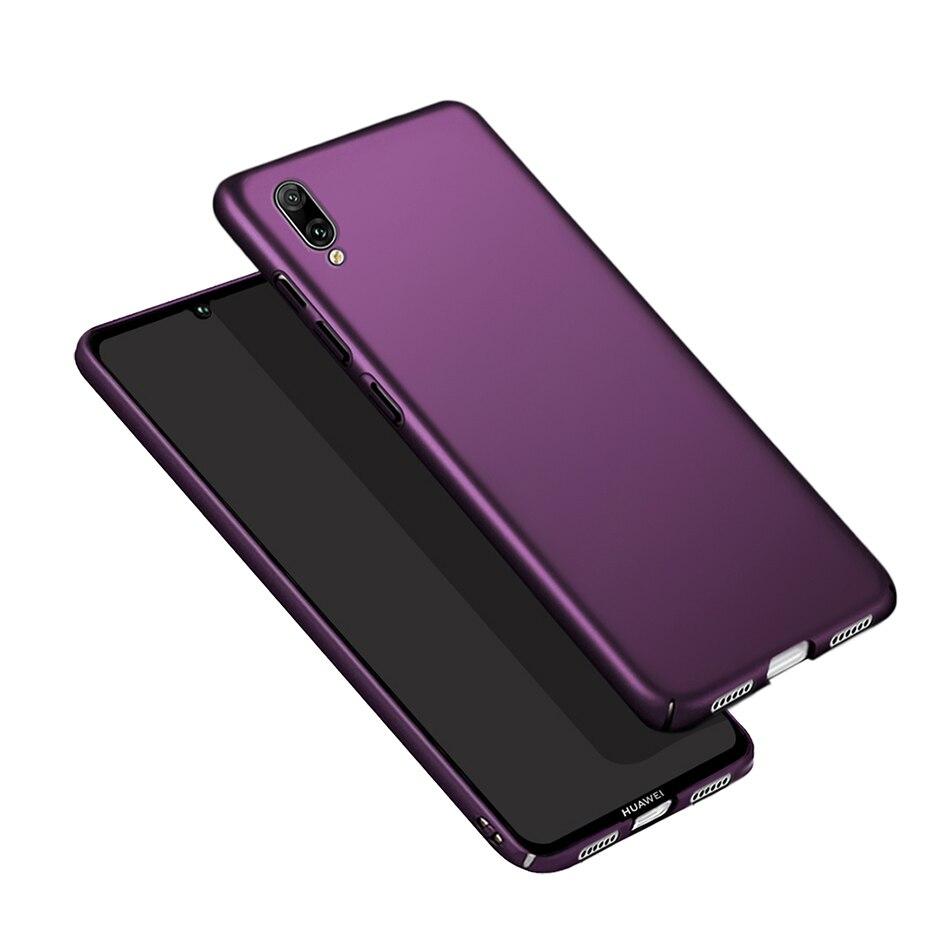Матовый чехол для Hauwei Y7 Pro 2019 Жесткий Чехол Huawei Y 7 Prime телефона 2019 Бамперы   