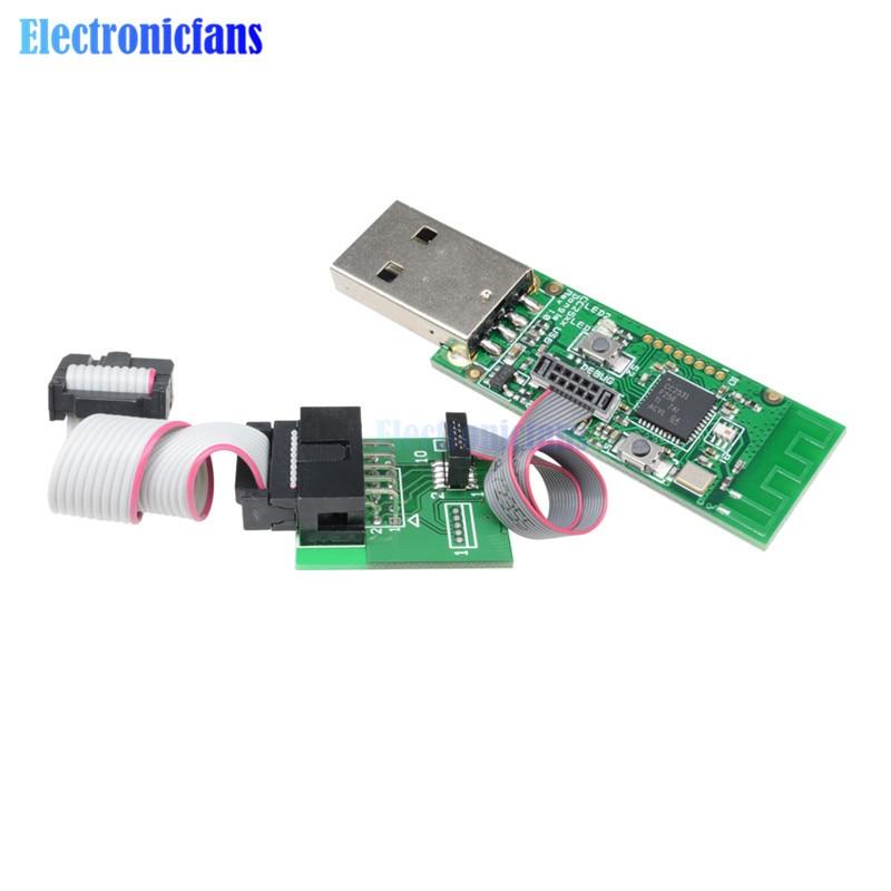 Paquete de placa de circuito impreso Bluetooth 4,0 CC2540 Zigbee CC2531 captura Sniffer USB protocolo analizador Interfaz inalámbrica Dongle para CC2650