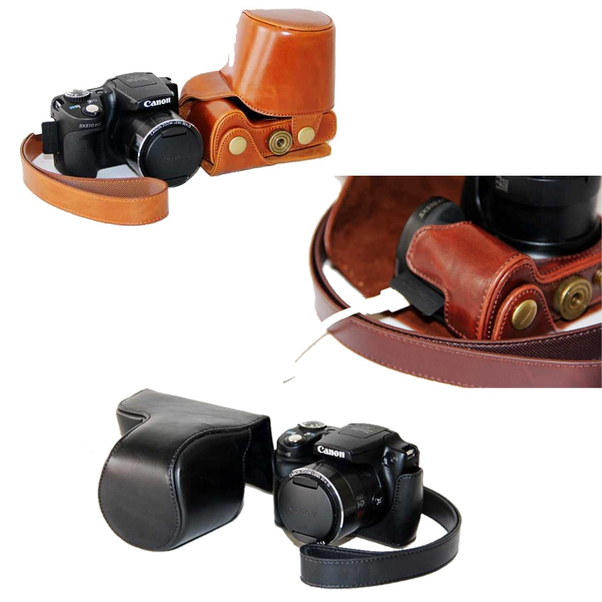 Новая сумка для камеры чехол для Canon SX50HS SX50 SX40HS SX40 PU кожаный чехол для камеры с ремешком