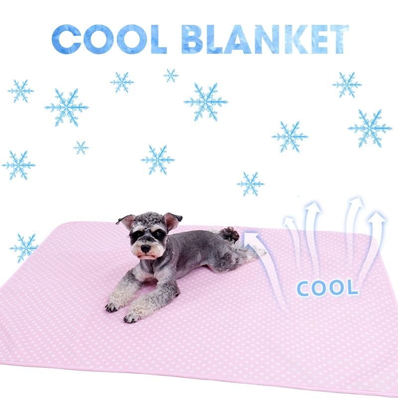 Manta de mascota autorefrescante para perros gatos almohadilla de sueño Ultra suave transpirable alivio del calor en Material de verano alfombrilla cómoda para todos los paisajes marinos