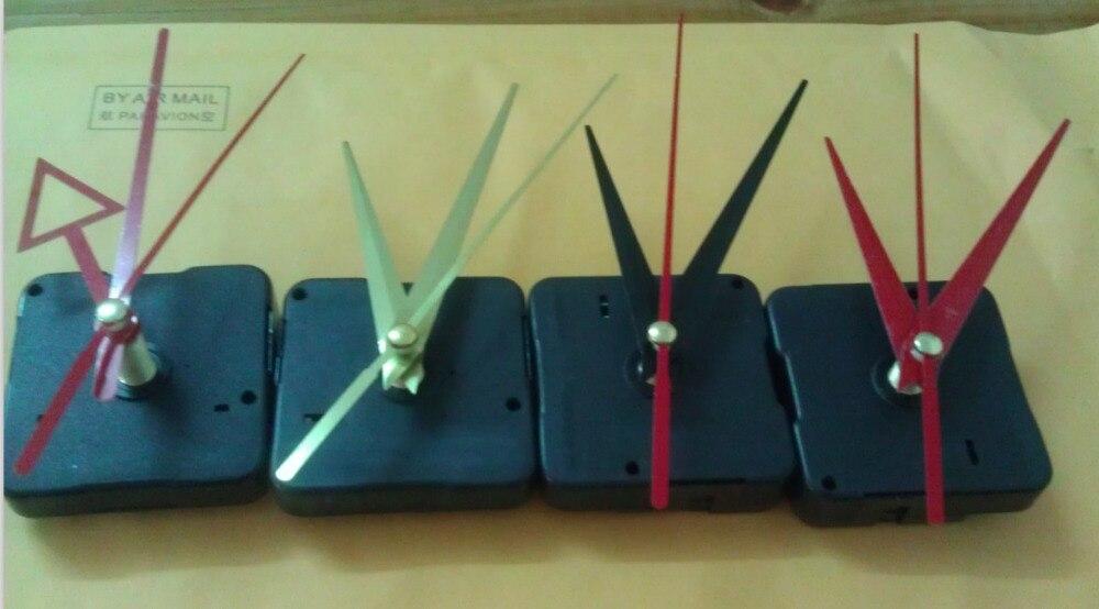 new DIY Quartz Clock Movement Long Shaft/Axis Motor Spindle Repair Parts + Three Hands+full accessories free shipping