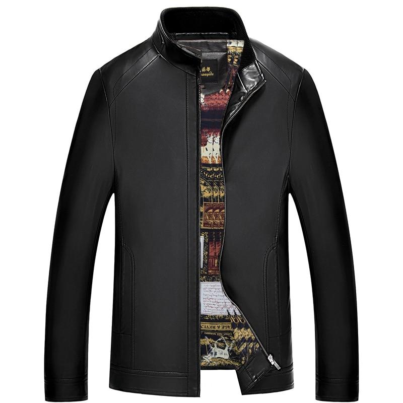 سترة جلدية أصلية للرجال ، معطف بسحاب ، ملابس رجالية ، جاكيت من جلد الغنم الفاخر ، موضة جديدة 1655