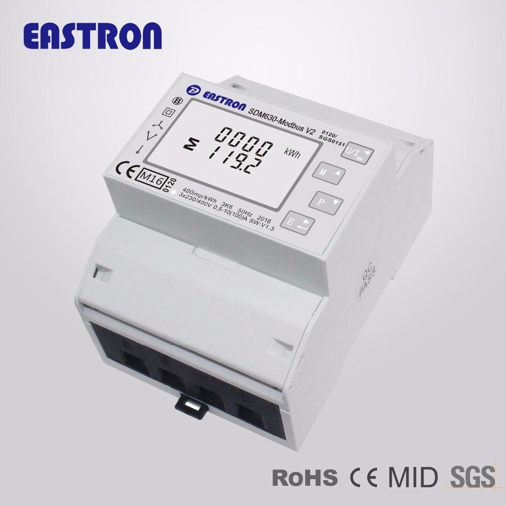 SDM630 Modbus V2 MID, multi-funktion power analyzer, 1p2w 3p3w 3p4w, modbus/puls ausgang port RS485, PV solar system zur verfügung