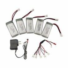 5 pièces 3.7 V 550 mah batterie au lithium NOUS réglementaire chargeur pour JXD523 523 W H43HW pliant à quatre axes avion accessoires