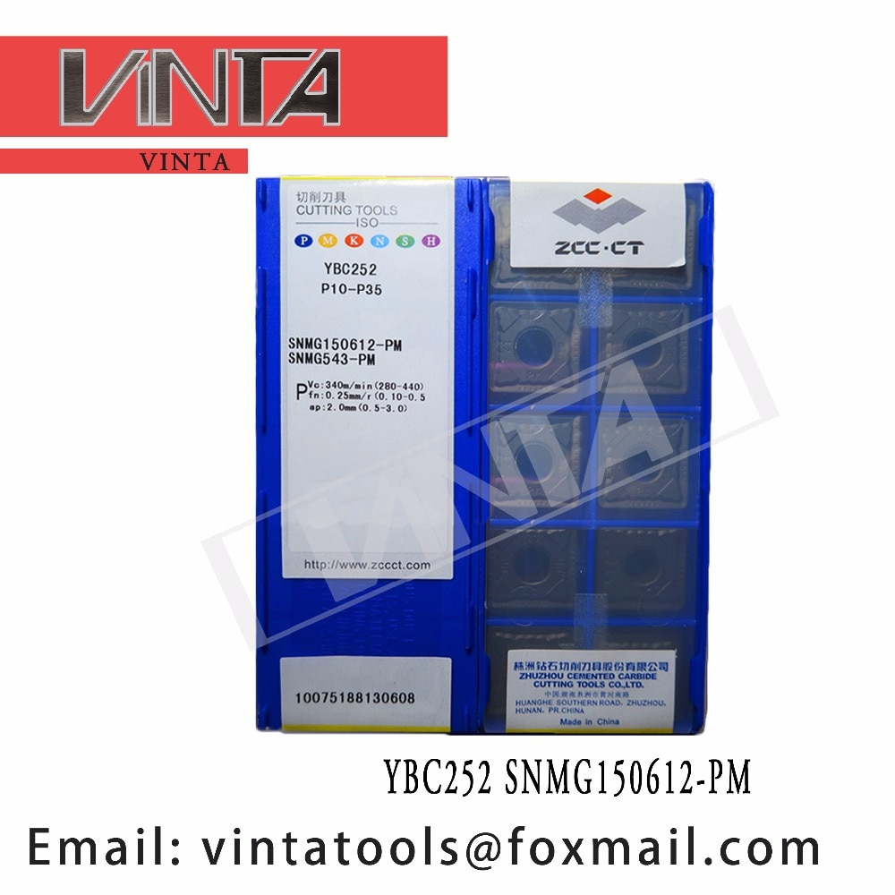 الشحن مجانا عالية الجودة 10 قطعة/السلع YBC252 YBC251 YBD152 SNMG150612-PM cnc كربيد تحول إدراج