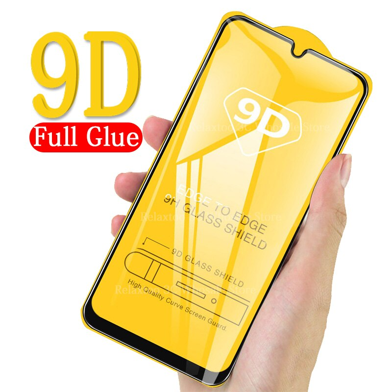 9D pegamento total A50 de vidrio templado para Samsung Galaxy A70 A40 A30 A50 protectora de vidrio en el Galax 50 30 40 70 50A 40A 70A película