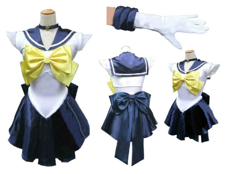 Anime Sailor Moon cosplay Tenoh Haruka/Sailor Uranus cos cartoon Halloween party Unisex Can be customized cosplay costumes
