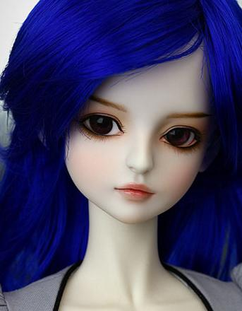 Alta calidad 1/3 muñeca bjd chica azul púrpura bonita muñeca modelo manikin mejor refundido regalo resina de juguete