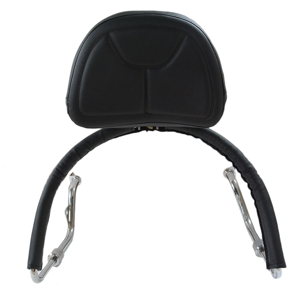 مقعد دراجة نارية من الجلد الأسود قابل للتعديل ، مسند ظهر ، طقم مخصص لهوندا جولدوينج GL1800 2001-2017 16 15 14 13