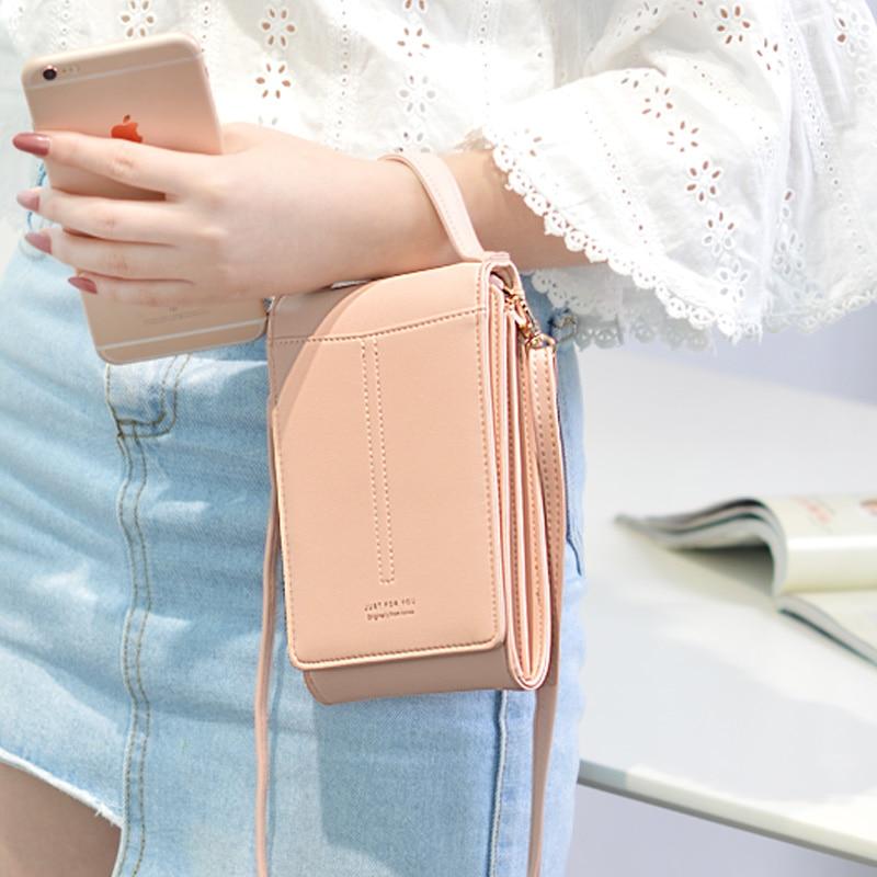 2019 New Pattern products inclined mobile phone bag girl fashion students single shoulder mobile phone bag trend pocket bag
