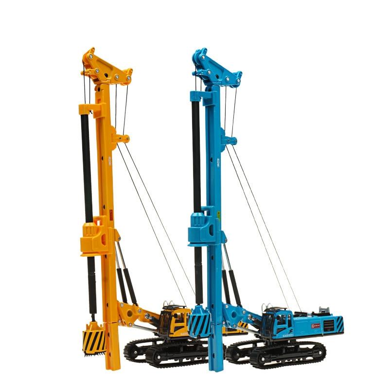 Coche de ingeniería de aleaciones KAIDIWEI, plataforma de perforación rotativa, regalo de Año Nuevo de Navidad, juguete para niños 1 64