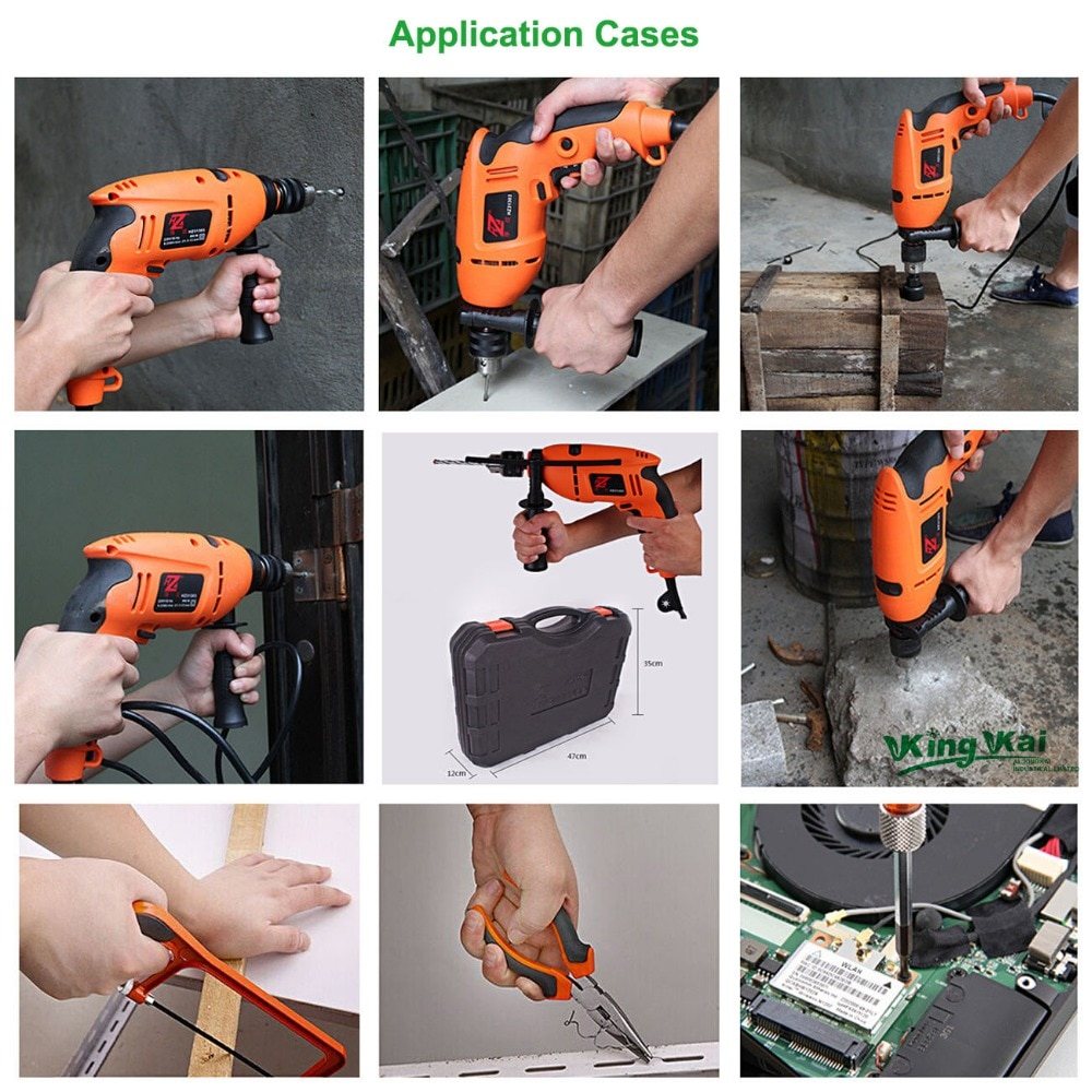 125 Piece Multifunctional Hardware Tools In Hand Tool Sets With Electric Drill,Screwdriver,Hack Saw,Wrench And Claw Hammer enlarge