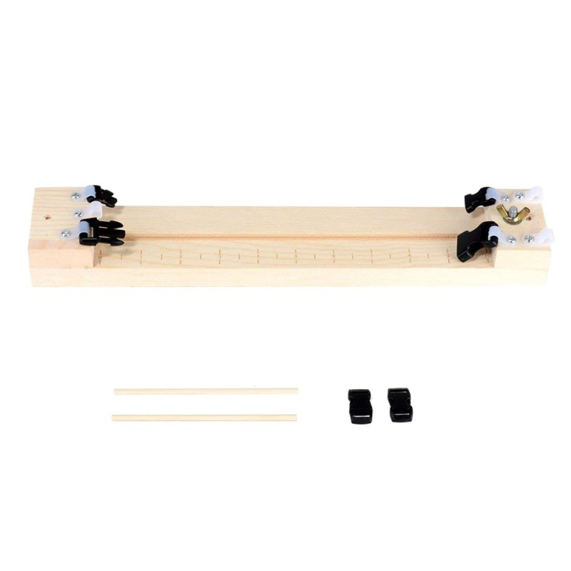 Gadgets ao ar livre guarda-chuva corda pulseira quadro de madeira tecido paracord gabarito trança corda solta de madeira natural