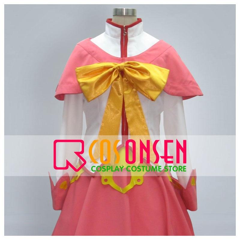 COSPLAYONSEN la melancolía de Haruhi Suzumiya Asahina Mikuru disfraz Cosplay 4 piezas conjunto completo Color blanco rosa