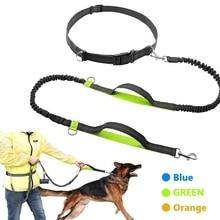 Geri çekilebilir Eller Serbest Köpek Tasma Koşu Için Çift Kolu Bungee Tasma Yansıtıcı Kadar 150 Lbs Büyük Köpekler Ücretsiz çanta Dağıtıcı