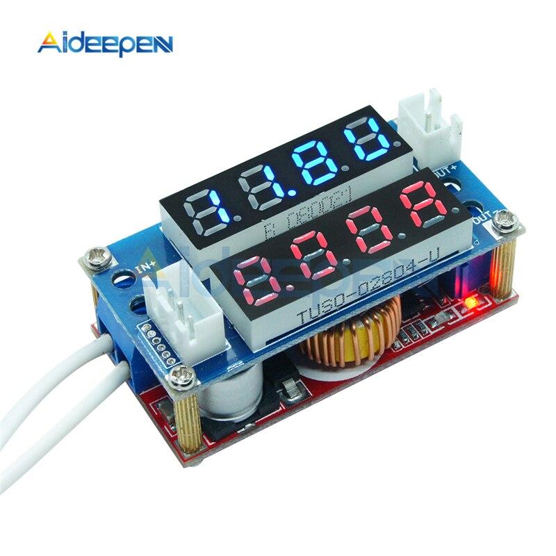 5A LED Digital Voltmeter Amperemeter Display DC-DC Schritt Unten Lade Board Modul Konstante strom spannung Regler Meter Modul